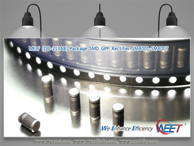WEET Surface Mount Rectifier SM4007 LL4007G Melf (DO213AB) 1A 1000V GPP Diodes.