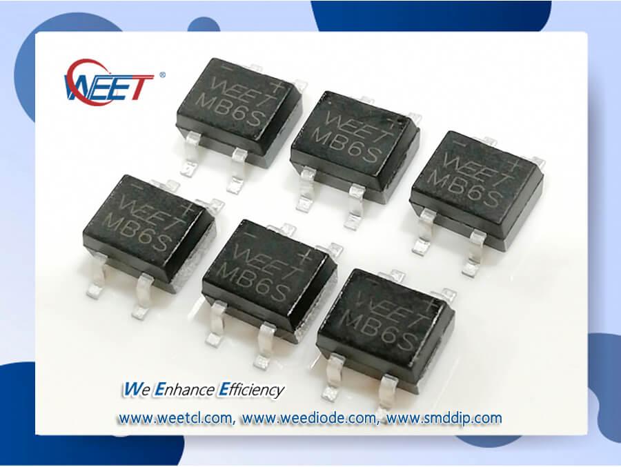 WEET 1.0 AMPS. MB1S THRU MB6S Glass Passivated Bridge Rectifiers