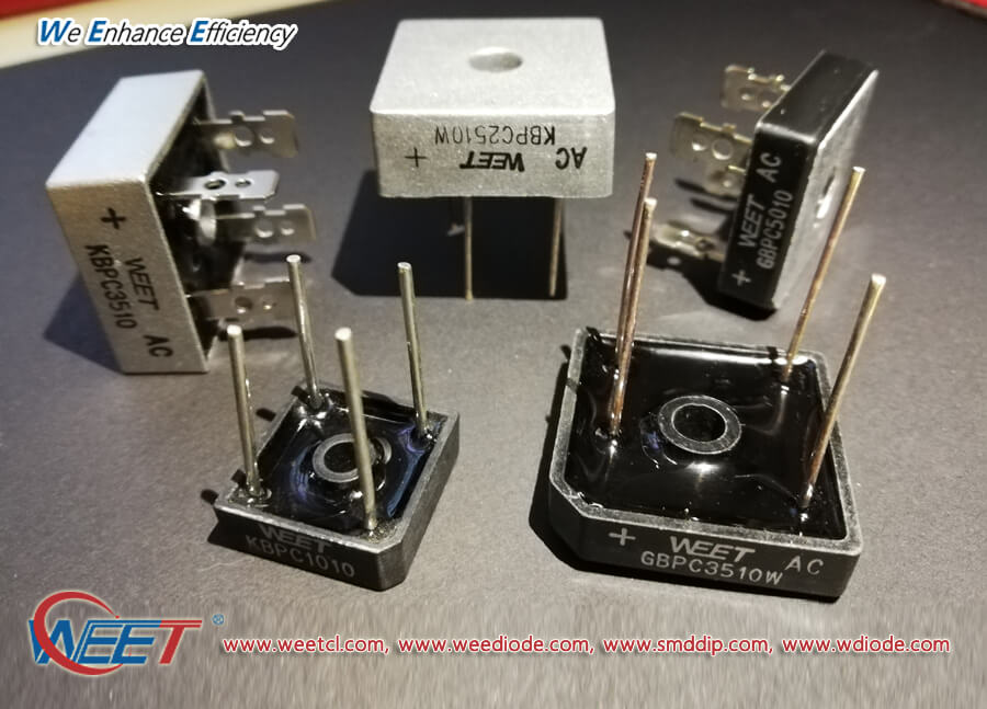 WEET Full Range of Bridge Rectifiers 1A to 50A 50V to 1000V