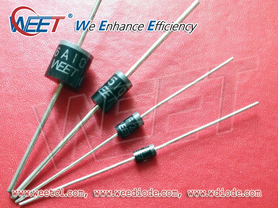 WEET All Kinds of Axial Lead Diodes and Rectifiers DO-41, DO-15, DO-27, R-1, R-6 Through Hole Type