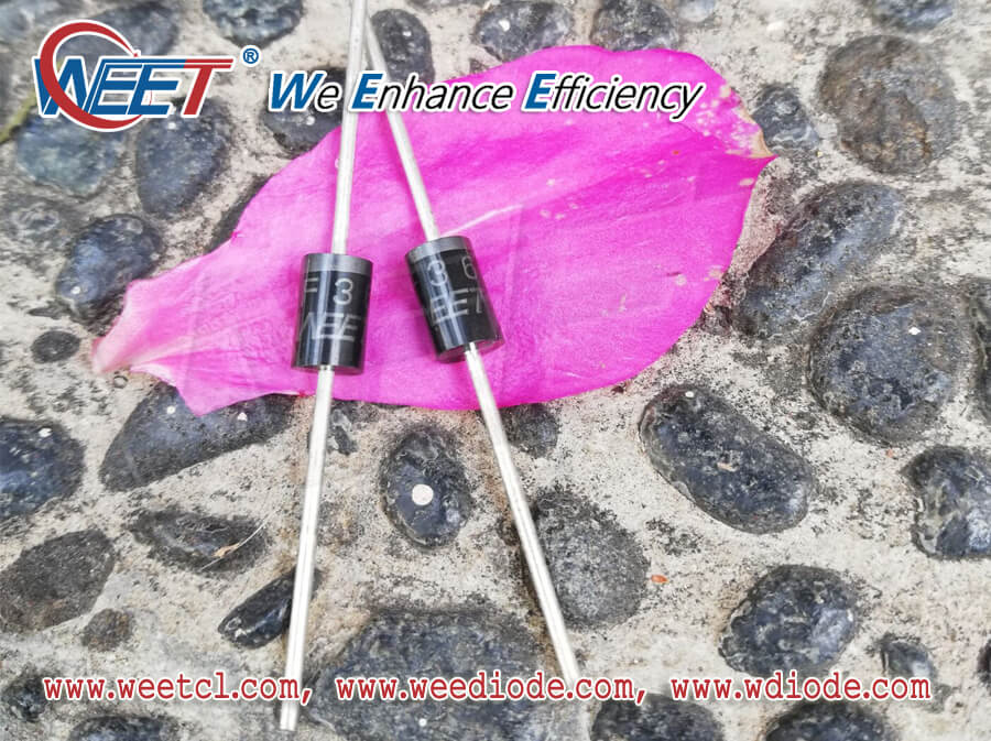 WEET Axial Diodes Lead Diameter and Material Compared with Secondary Semiconductor Factory