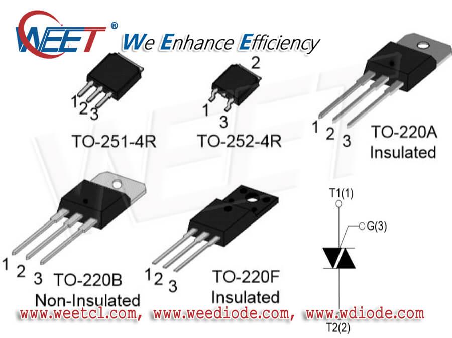 WEET TO-251-4R TO-252-4R TO-220A TO-220B TO-220F MOSFETs N P Channel Schottky Diodes Rectifiers
