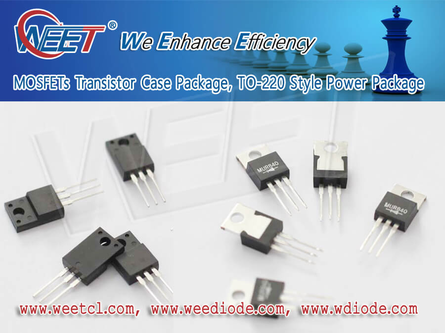 WEET Transistor TO-220 Style Power Package P Channel MOSFET PMOS For Switch Circuit Application