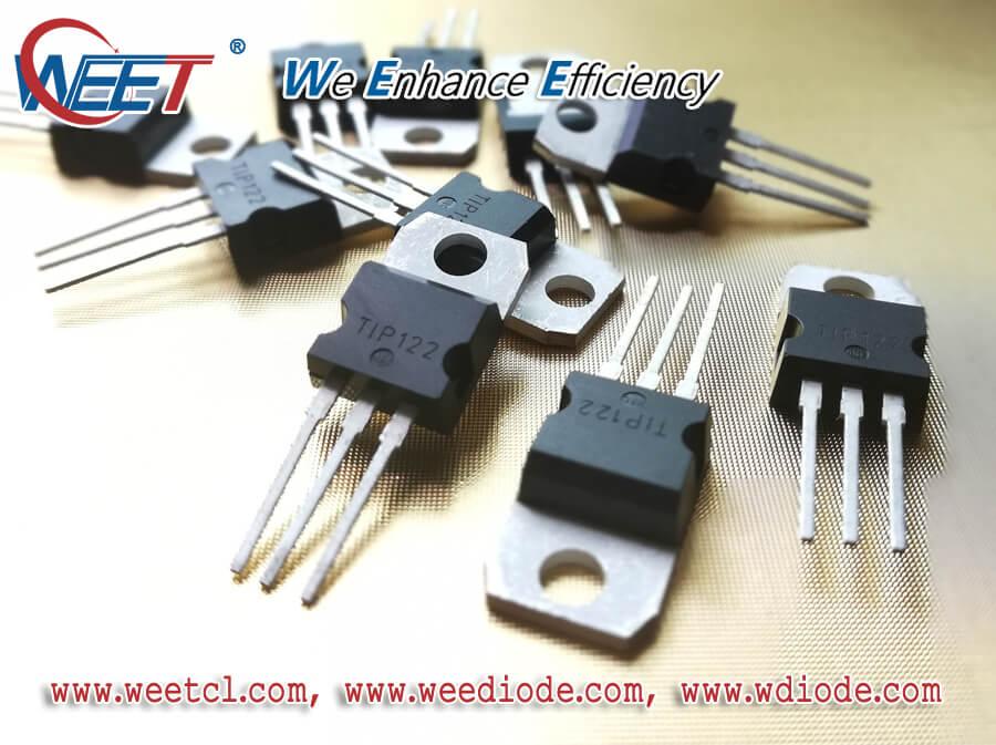 WEET TIP122 5.0 A 100 V NPN Darlington Bipolar Power Transistor TIP120, TIP121, TIP122